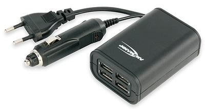Ansmann Quattro USB ChargerKFZ- und Universal-Ladegerät