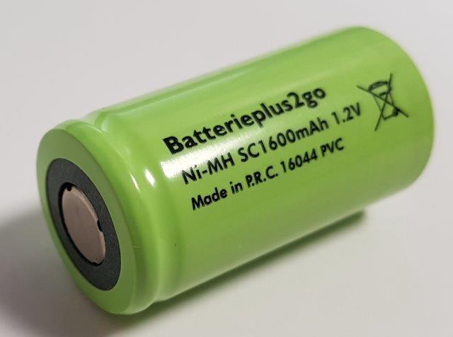 Batterieplus2go Sub-S 1600 mAh