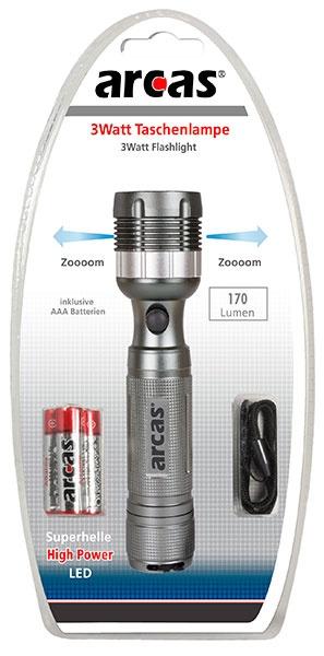 Arcas ARC-3Watt Zoom LED-TL / 1 x LED mit Fokussier-Rad