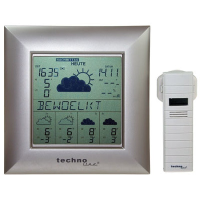 technoline wetterstation wd 9000 akku batterien center. Black Bedroom Furniture Sets. Home Design Ideas