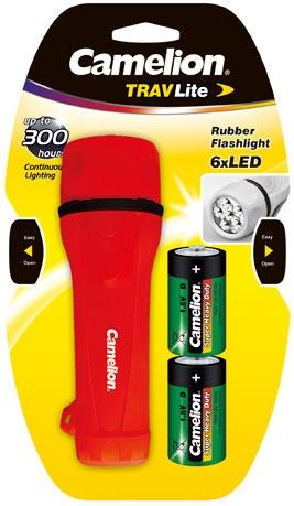 Camelion Gummi- Taschenlampe mit  1 x LED