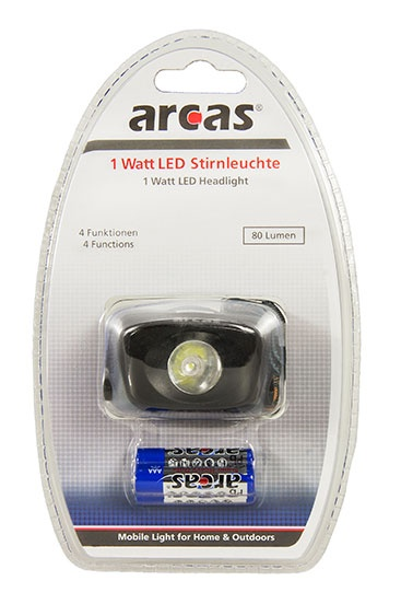 Arcas Stirnleuchte 1 Watt LED