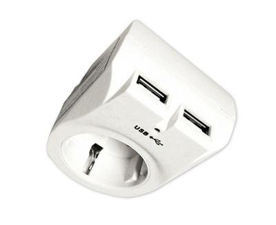 Arcas Zwischenstecker 2x USB Lader