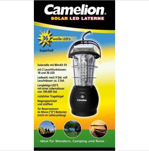 Camelion Solar Campinglampe