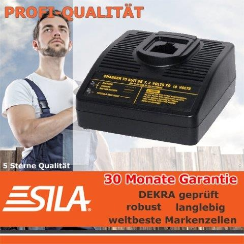 SILA  Lader für Dewalt 7,2-18 V