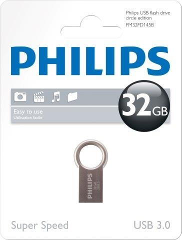 PHILIPSUSB 3.0 Stick 32GB, Circle Edition, silber