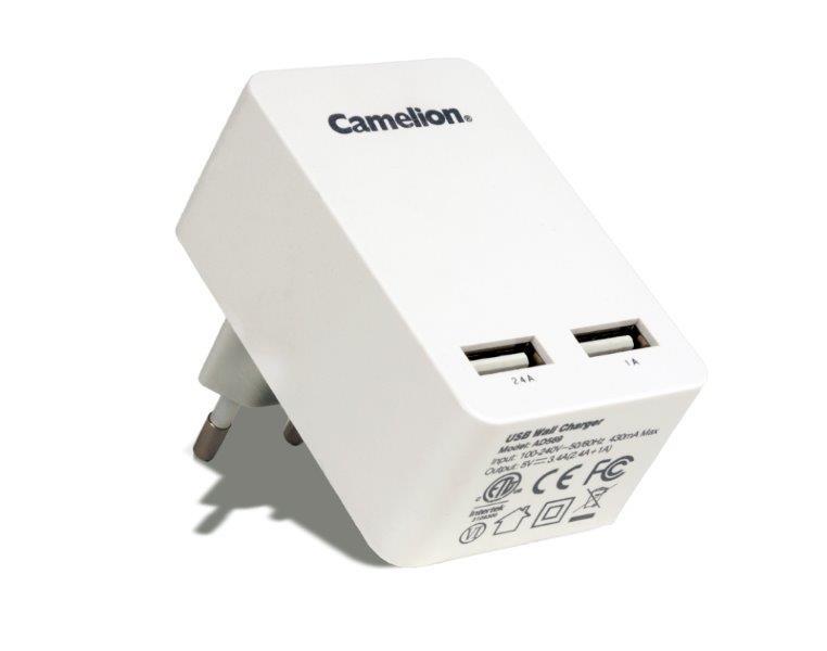 Camelion AD569-TUV_DB 2 x USB-Lader