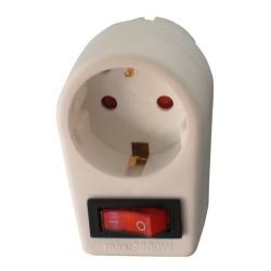 Arcas 1-fach Steckdose mit Schalter inkl. Kindersicherung