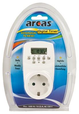 Arcas Zeitschaltuhr  Digitale  / tägliche + wöchentliche