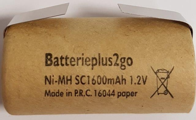 Batterieplus2go Sub- C 1600 mAh