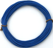 Silikon-Litze extrem geschmeidig, blau