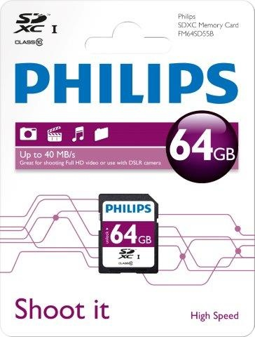 PHILIPSSDXC-Card 64GB, Class 10, UHS-I