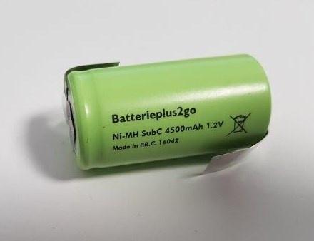 Batterieplus2go Sub-C  4500 mAh