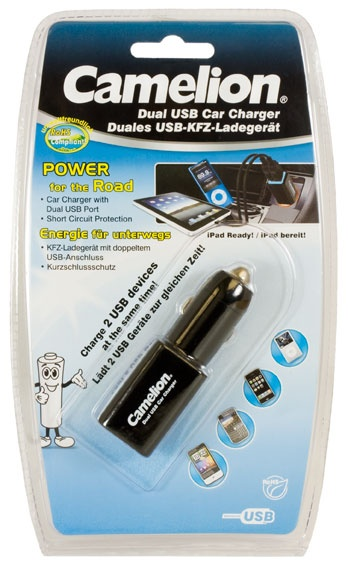 Camelion Duales USB-KFZ-Ladegerät DD-801 mit 2 USB Anschlüss