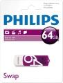 PHILIPSUSB 2.0 Stick 64GB, Vivid Edition, White, Purple