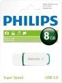 PHILIPSUSB 3.0 Stick 8GB, Snow Edition, White, Green
